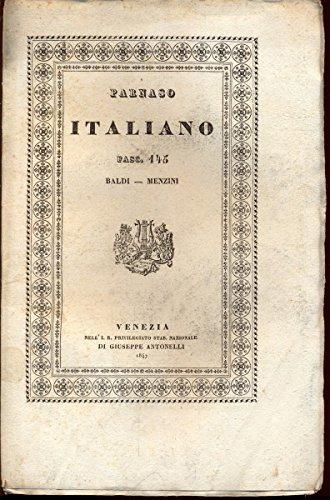 Parnaso Italiano Fascicolo I