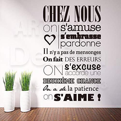 Kunst Design Dekoration Billig Vinyl Französisch Zitat Regeln Worte Wandaufkleber Abnehmbare Haus Dekor Zeichen Abziehbilder In Zimmer 43x66 cm
