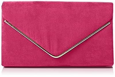 SwankySwans Women's Oscar Envelope Suede Velvet Party Prom Clutch Bag Clutch