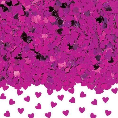 Shatchi Konfetti-Herz-Konfetti-Tischkonfetti, Hot Pink, 1 Stück