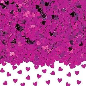 Shatchi CONFETTI-HEART-HOT-PINK-1PK - Confeti en forma de corazón, color rosa