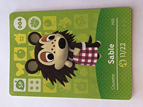 Amiibo Karte Animal Crossing Happy Home Design Karte Sable 004/100SP