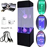 Mini Jellyfish LED Light - Features 2 Realistic Jellyfish - Neon Coloured - 22cm Tall
