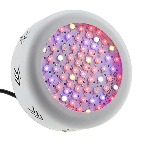 Aquarium Full Lampe Spectrum (Docooler 216W AC85-265V 72LEDs 21600LM Pflanze wachsen Licht, Full Spectrum Gemüse Kräuter Blumen-Lampen-Gewächshaus Indoor Garten hydroponischen)