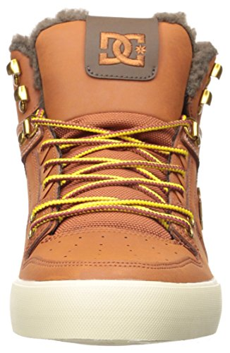 DC Skateboard Shoes SPARTAN HIGH WC WHEAT/DARK CHOCOLATE Burnt Henna/White