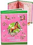 Meine Freunde Buch -  Pferde & Schmetterlinge  - Schule & Kindergarten / Vorschule Kita - dick gebunden - für Schulfreunde Poesie A5 Softcover - Freundebuch..