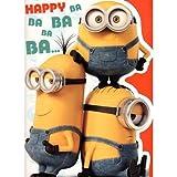 Geburtstagskarte, Motiv: großes Minions