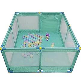 Recinto bambini Grande Box Porta Giochi per Bambini Portatile, Play Yard Pieghevole Divisorio per Sala Oxford Cloth 8…