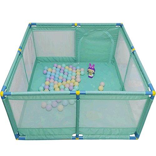 Großes Tragbares Baby Scherzt Laufgitter, Spiel-Yard Faltbarer Raumteiler Oxford-Stoff 8 Seitenverkleidung (Farbe : Green)