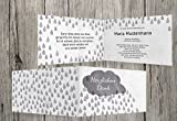 Trauerkarten-Druck | Danksagungskarten Trauer | Danksagungskarten Trauer Regen | 20 Karten | mit Individualisierung & Umschlägen | in Grau