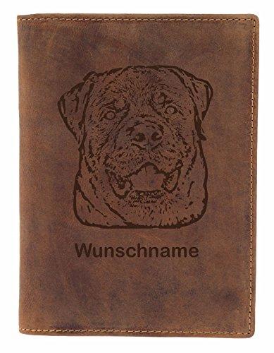 Greenburry Impfbuchmappe mit Motiv Rottweiler + Wunschname I Heimtierausweis