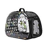 laamei Transportín para Mascotas Perros Gatos Bolsa de Transporte Estampado Ratón Transpirable Portátil Exterior Viaje Carrier Bolso(40x30x33cm)