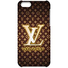 Bling Louis and Vuitton Luxury Logo Customized Thin Durrable Plastic 3D Case Cover For Iphone 5C