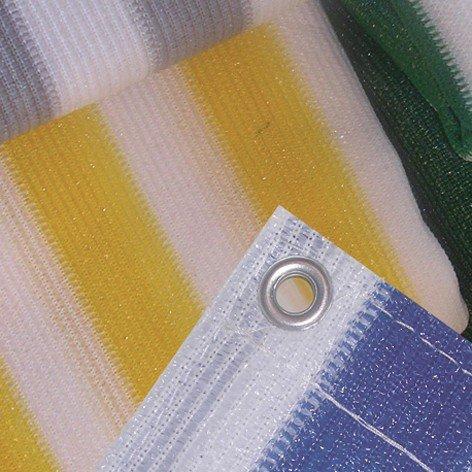 TNC 903803 Balkonumspannung, 500 x 90 cm, mit Messingösen versehen, gelb/weiß