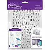 Creativity Essentials A5 Clear Stamp Set 129/Pkg-Alphas Trad