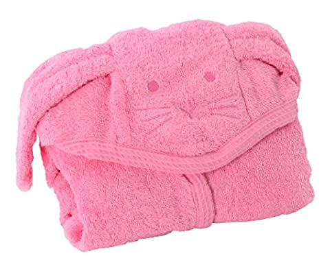 Kids Baby Bath Large Towel 80x135cm Cute Puppy Hooded Ultra-soft Flannel Bathing Wrap Blanket,0-6 Years Old (Pink)