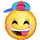 Folienballon SMILEY JUNGE XXL 50cm, Luftballon zur Geburt + PORTOFREI mgl + Geschenkkarte + Helium & Ballongas geeignet. High Quality Premium Ballons vom Luftballonprofi & deutschen Heliumballon Experten. Luftballon Geschenk zur Geburt, Geschenk zur Taufe und tolle Ballondeko zur Babyparty