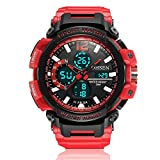 HWCOO AD1713 Lässige Sport-Silikon-Bügel-Multifunktions-Digitaluhr-wasserdichte Uhr ( Color : 3 )