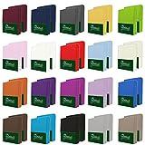NatureMark 2er Pack MICROFASER Spannbettlaken, Spannbetttuch Doppelpack in vielen Größen und Farben MARKENQUALITÄT ÖKOTEX Standard 100 | 180 x 200 cm - 200 x 200 cm - royal blau