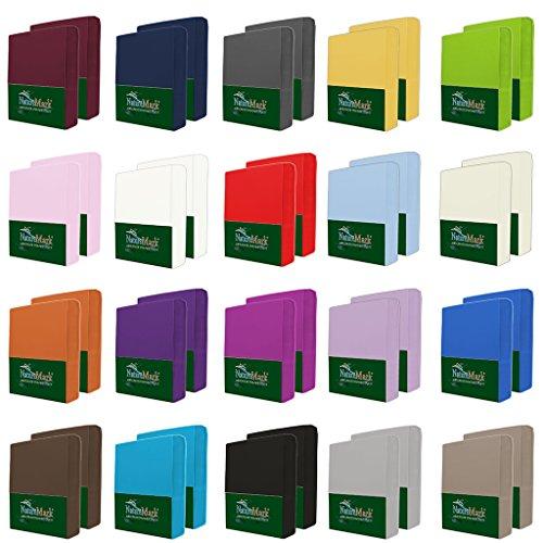 NatureMark 2er Pack MICROFASER Spannbettlaken, Spannbetttuch Doppelpack in vielen Größen und Farben MARKENQUALITÄT ÖKOTEX Standard 100
