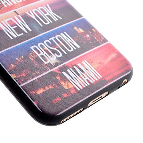 SainCat Coque Housse pour Apple iPhone 6s,Transparent Coque Silicone Etui Housse,iPhone 6 Silicone Case Soft Gel Cover Anti-Scratch Transparent Case TPU Cover,Fonction Support Protection Complète Magn Statue de la Liberté