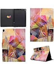 Coque iPad Pro 10.5, BONROY® Smart Case Coque pour iPad Pro 10.5 TPU Souple Bumper Fermeture Magnétique avec Function Veille Automatique Etui Housse Case Cover pour iPad Pro 10.5 - Flamingos