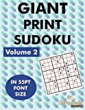 Giant Sudoku Volume 2: 100 sudoku puzzles in giant print 55pt font size by Clarity Media (2013-07-08)