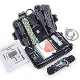 Jelife Survival Kit Set 13 in 1 Außen Notfall Survival-Kits Outdoor Überlebenskit Multi-Tool