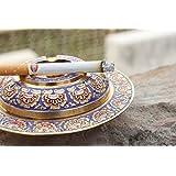 Rajasthali Handicraft Gift Pure Brass Meenakari Work Ash Tray,Smoking,ash Tray