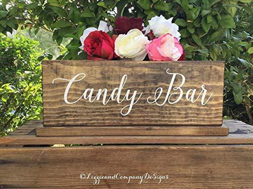 child - Gastgeschenke Tischschild - Sweetheart Tischdekoration - Whiskey und Zigarre Bar - Dessert Tisch - Dessert Bar rustikal und gebeizt - 15 x 5 cm ()