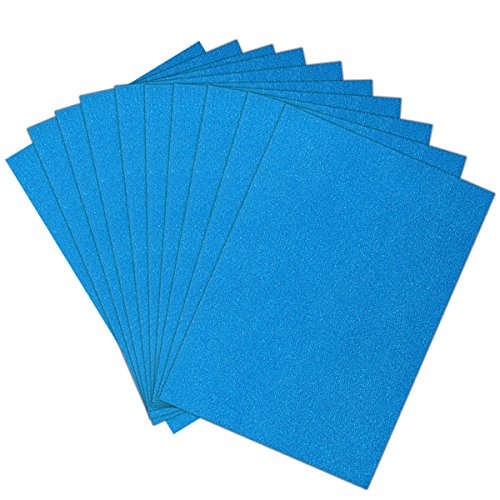 ULTNICE 10pcs Glitter Cardstock Papier Schein A4 Karte für Diy Craftwork Sky Blue