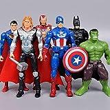 NXHJSSS 6PCS Avengers Toy Fun Play Figuras para niños