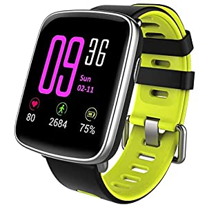 Willful Smartwatch with Heart Rate Monitor, Waterproof IP68 Smart Watch with Stopwatch, Sleep Monitor, Pedometer, Calendar, Remote Music Control, Activity Bracelet for Android and iOS (Green)