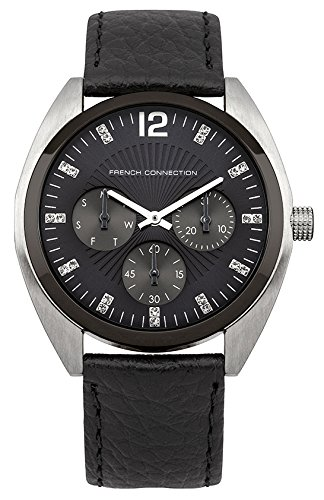 french-connection-womens-quartz-watch-with-blue-dial-analogue-display-and-black-leather-strap-fc1172