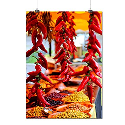 Red Hot Spicy Pepper Chili Spice Matte/Glossy Poster A2 (60cm x 42cm) | Wellcoda