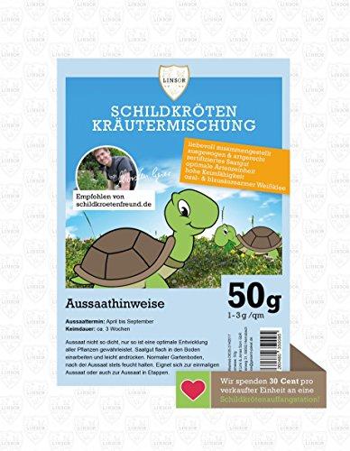 Linsor Schildkröten Kräutermischung 50g - Schildkröten Samen, Schildkröten Saatgut,...