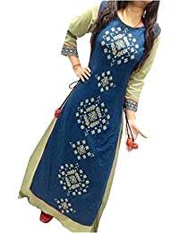 Cholis For Women's Heavy Tapeta Silk Embroidered Semi-Stitched Anarkali Dress Material Western Wear Fashionable...