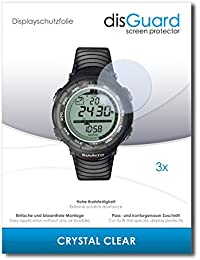 3 x disGuard Crystal Clear Lámina de protección para Suunto Vector Black - ¡Protección de pantalla cristalina con recubrimiento duro! CALIDAD PREMIUM - Made in Germany