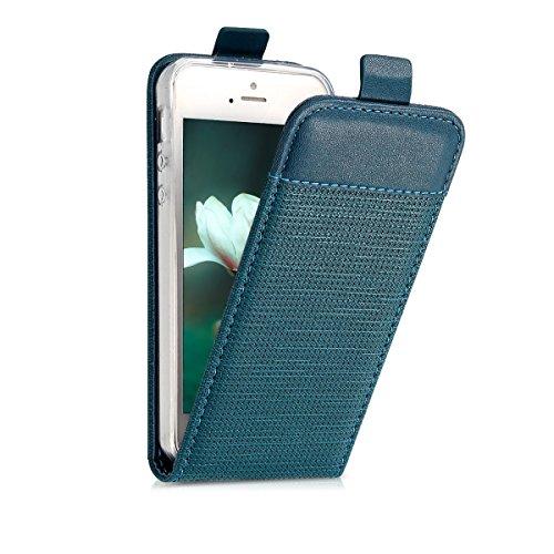 kwmobile 45298.01 Handy Tasche 10,2 cm (4 Zoll) Buch grün - Handyhüllen (Bücher, Apple, iPhone SE/5/5S, 10,2 cm (4 Zoll), grün) (Buch Handy Cover Iphone 5)