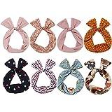 Sea Team Twist Bow verdrahtete Stirnbänder Schal wickeln Haar-Accessoire-Haarband (8 Packungen) (D)
