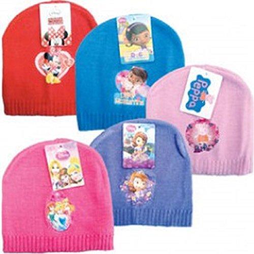 Minnie Mouse / peppa pig / Doc Mcstuffins / Disney princess / sofia the first 5 X Beanie 18 m - 3 (Disney Minnie Mütze)