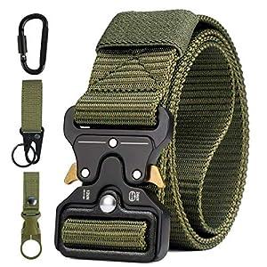AivaToba Cintura Tattica Uomo Heavy Duty Nylon Cintura Cobra Militare Esercito con Fibbia in Metallo a Sgancio Rapido… 1 spesavip