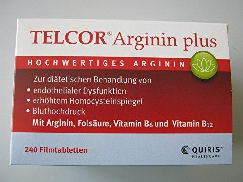 TELCOR ARGININ PLUS 240St Filmtabletten PZN:3104757 by Quiris Healthcare GmbH