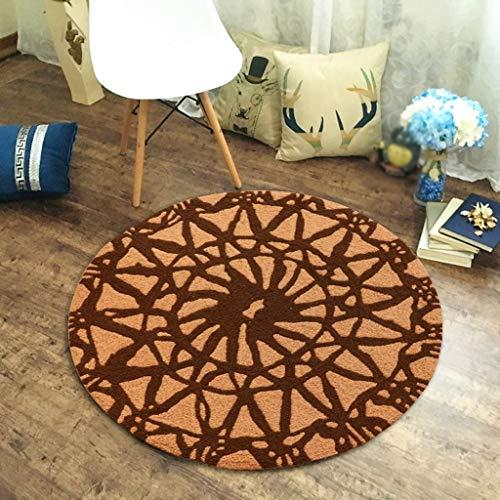 FEI Alfombra Circular Dormitorio Sala de Estar Cesta Simple Computadora Silla Alfombra...