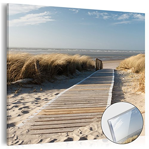murando - Acrylglasbild Natur 40x40 cm - Bilder Wandbild - modern - Decoration Strand Meer 030212-88