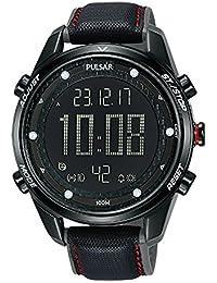 Pulsar x Reloj para Hombre Analógico/Digital de Cuarzo con Brazalete de Silicona P5A027X1