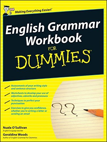 English Grammar Workbook for Dummies (UK Edition) by Nuala O'Sullivan (2010-04-13)