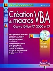 Création de macros VBA (avec CD-Rom)