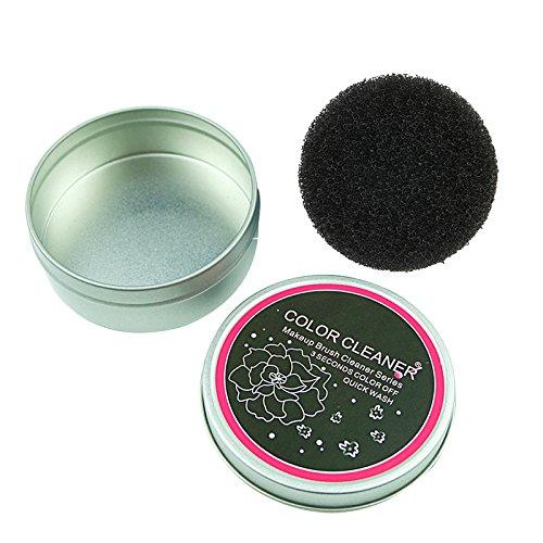 TOOGOO Pinceau de maquillage Eponge de nettoyage Couleur du solvant Brosse Outil d'eponge de fard a paupieres