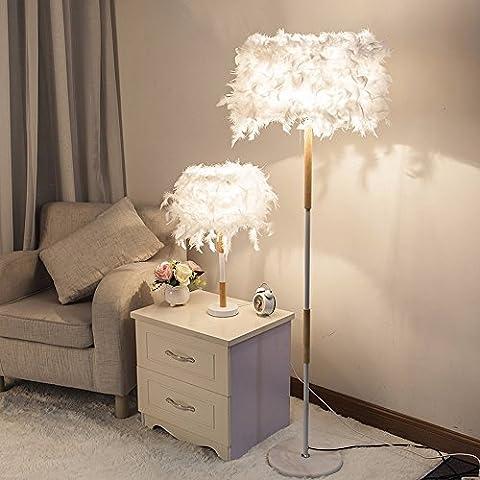 lampe de bureau modernisation de la simplicité de l'originalité de la mode lampe de bureau lampadaire salon chambre chevet plume chaleureux et romantique télécommande lamp (e27 6w-10w sans source de lumière),lampadaire télécommande dimmer ampoule